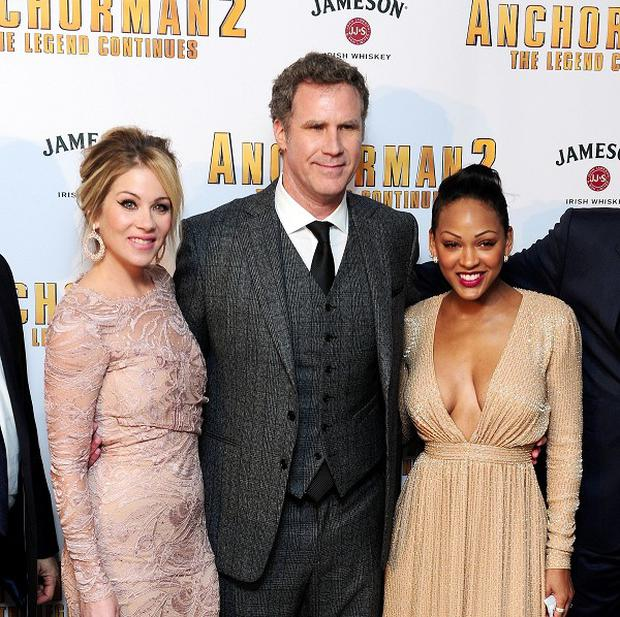 Christina Applegate, Will Ferrell and Meagan Good attending the UK premiere of Anchorman 2