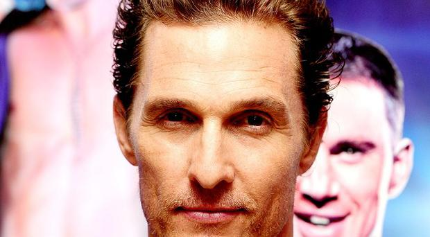 Matthew McConaughey plays HIV sufferer Ron Woodroof in The Dallas Buyers Club