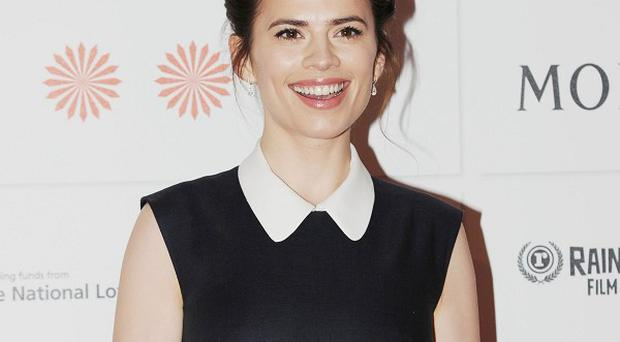 Hayley Atwell has reprised her role as Peggy Carter in the Captain America sequel