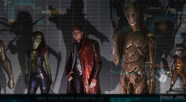 Guardians Of The Galaxy concept artwork (Marvel Studios)