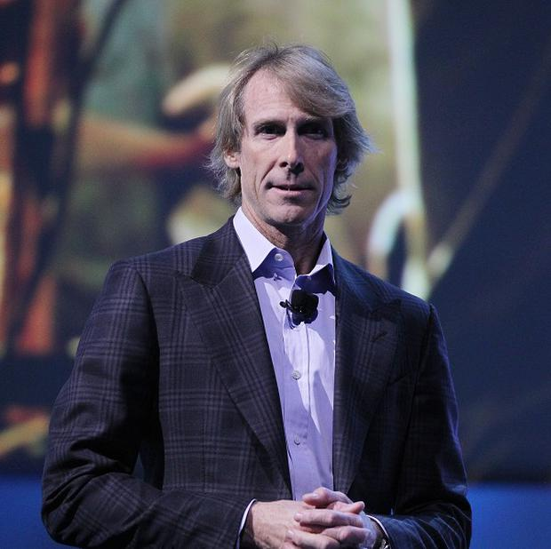 Director Michael Bay walked off stage at the presentation in Las Vegas