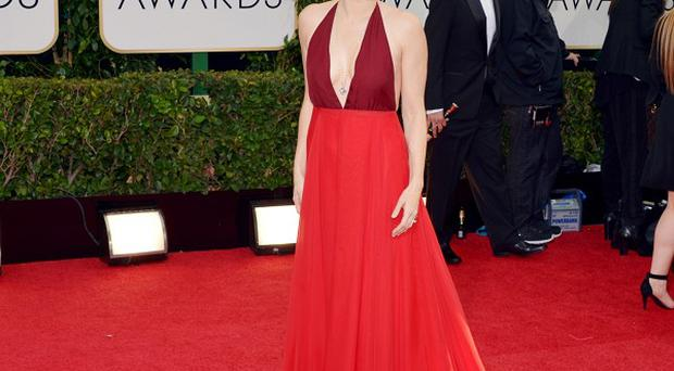 Amy Adams arrives at the Golden Globe Awards (AP)