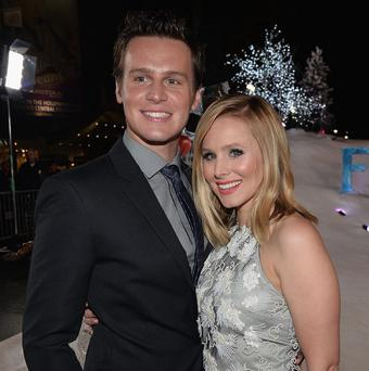 Kristen Bell and Jonathan Groff voice the lead characters in Disney's Frozen