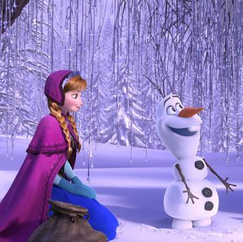 Kristen Bell, Josh Gad and Jonathan Groff voice the lead characters in Frozen