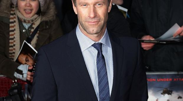 Aaron Eckhart sports some facial scars in I, Frankenstein