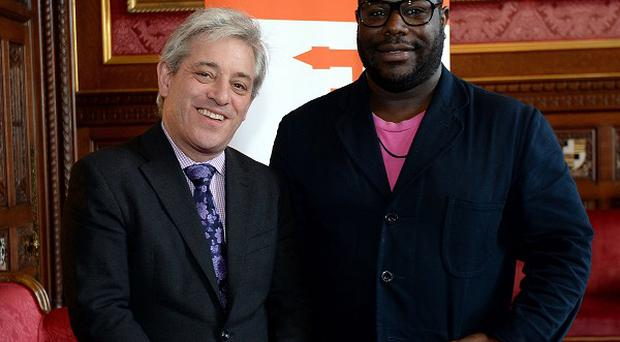 Speaker of the House of Commons John Bercow welcomed Steve McQueen to parliament