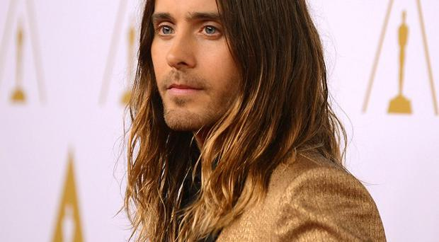 Jared Leto arrives at the 86th Oscars nominees luncheon (AP)