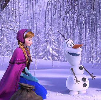 Kristen Bell, Josh Gad and Jonathan Groff voice the main characters in Frozen
