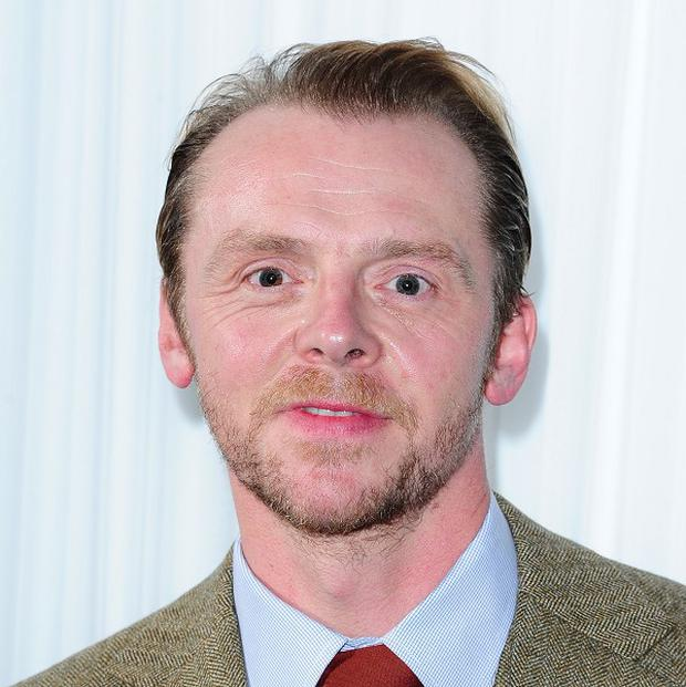 Simon Pegg is enjoying collaborating with the Monty Python stars on Absolutely Anything