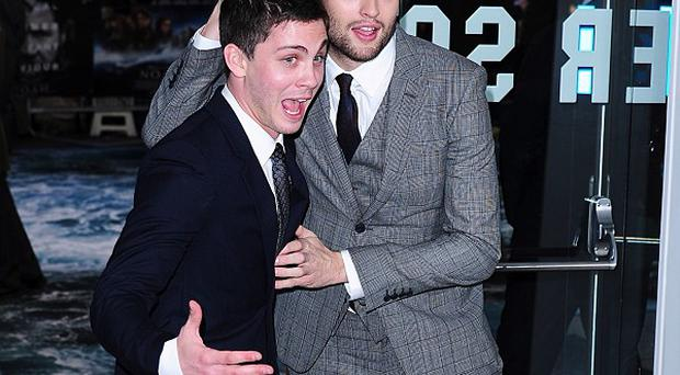 Noah stars Logan Lerman and Douglas Booth loved messing around together when they weren't filming