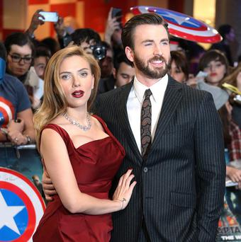 Chris Evans and Scarlett Johansson star in Captain America: The Winter Soldier