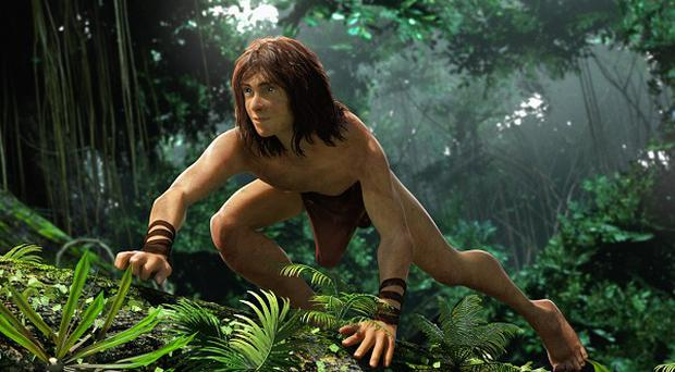Kellan Lutz had to learn to move like an ape for motion capture animation Tarzan