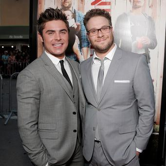 Zac Efron and Seth Rogen stepped out for the LA premiere of Bad Neighbours