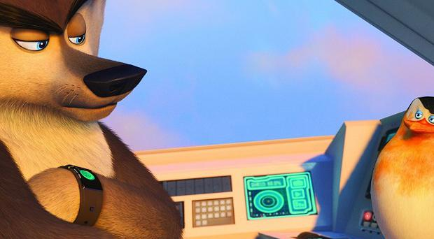 Benedict Cumberbatch voices Classified the wolf in The Penguins Of Madagascar