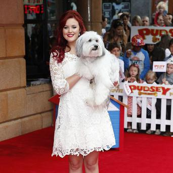 Ashleigh Butler and Pudsey attend the premiere of Pudsey The Dog: The Movie
