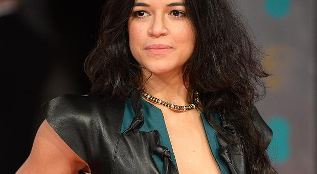 Michelle Rodriguez has said shooting Fast And Furious 7 was 'rough'