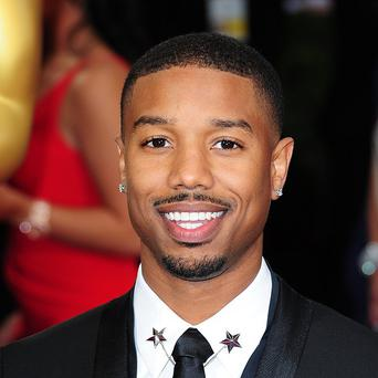 Michael B Jordan plays Johnny Storm/Human Torch in the Fantastic Four reboot