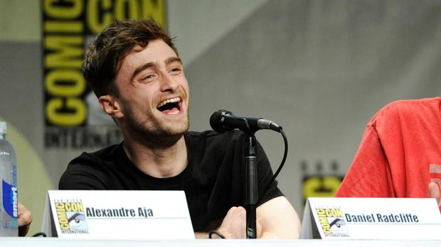 Daniel Radcliffe dressed as Spiderman to mingle inconspicuously among the fans at Comic Con (Photo by Chris Pizzello/Invision/AP)