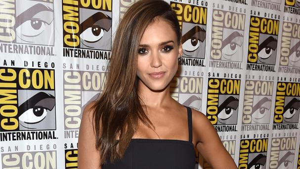 Jessica Alba was promoting Sin City: A Dame To Kill For at Comic-Con International in San Diego