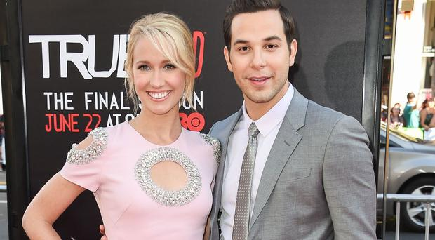 Pitch Perfect stars Skylar Astin and Anna Camp have promised more musical mayhem in the sequel (Rex)