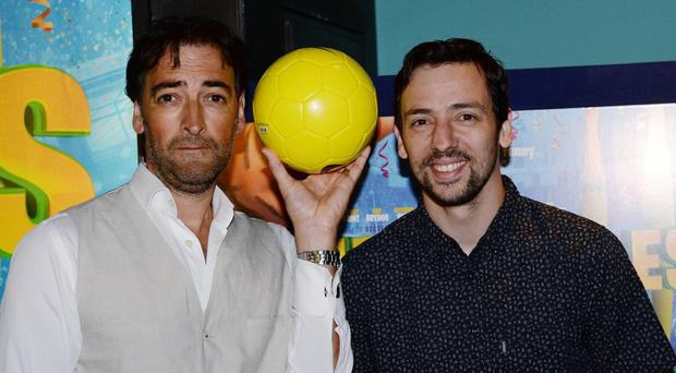 Alistair McGowan and Ralf Little attend the premiere of the film The Unbeatables at Vue West End, Leicester Square, London.
