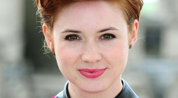 Karen Gillan plays blue-skinned alien Nebula in Guardians Of The Galaxy