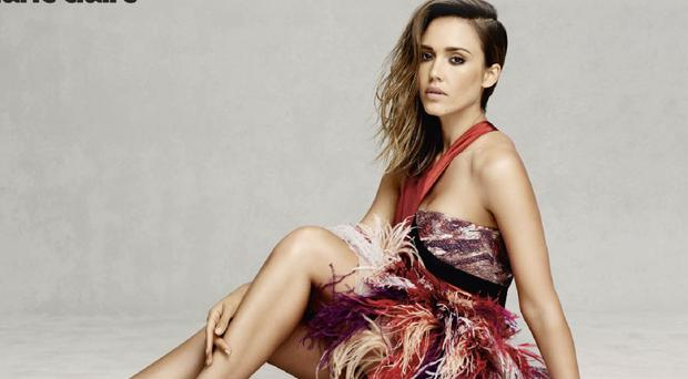 Jessica Alba appears in the September issue of Marie Claire UK (Marie Claire UK/David Roemer)