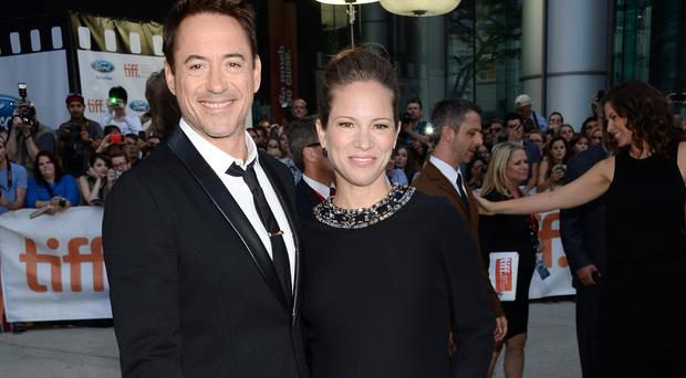 Robert Downey Jr and wife Susan arrive at the Toronto International Film Festival (Evan Agostini/Invision/AP)