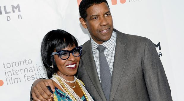 Denzel Washington and his wife Pauletta Washington at The Equalizer premiere at the Toronto International Film Festival