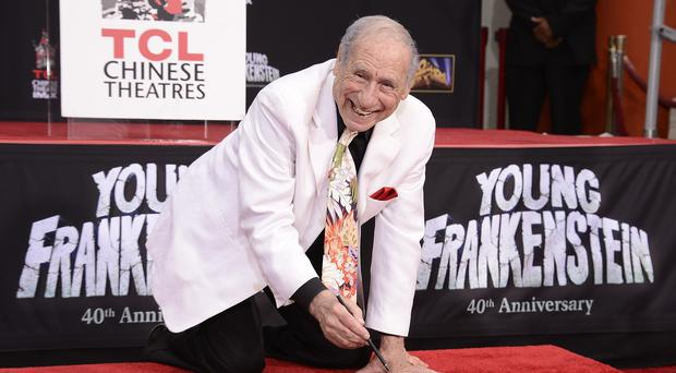 Comedy legend Mel Brooks attends his hand and footprint ceremony (Dan Steinberg/Invision for 20th Century Fox Home Entertainment/AP)
