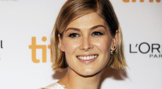 Rosamund Pike has been filming Gone Girl