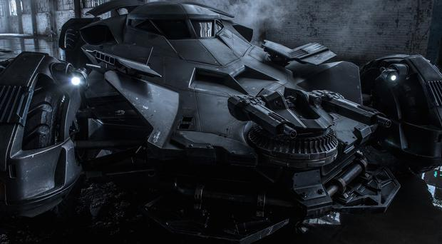 The new Batmobile from Batman v Superman: Dawn Of Justice (Clay Enos/Twitter)