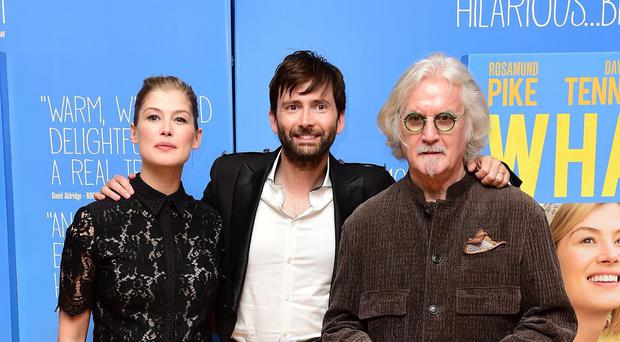 Rosamund Pike, David Tennant and Billy Connolly attending the premiere of What We Did On Our Holiday