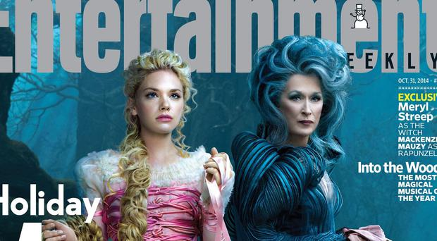 Meryl Streep and Mackenzie Mauzy as Rapunzel and The Witch in Into The Woods (Entertainment Weekly)