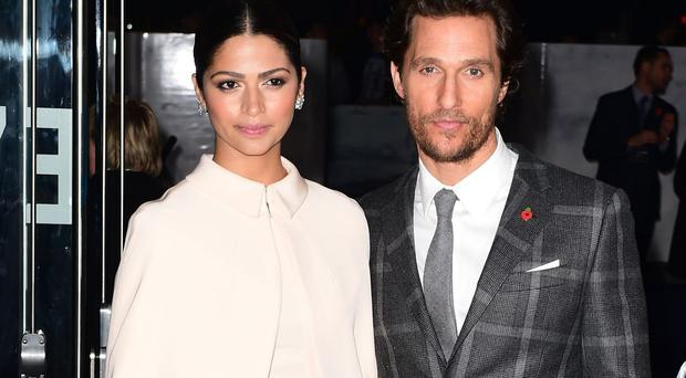Matthew McConaughey's wife Camila Alves and their children stayed nearby for the Interstellar shoot