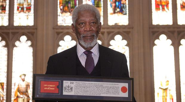 Morgan Freeman received the Freedom of the City of London