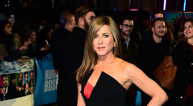 Jennifer Aniston arriving at the premiere of Horrible Bosses 2 at the Odeon West End in central London