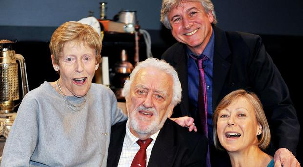 Bernard Cribbins is reunited with his fellow cast members of The Railway Children Deddie Davies, Gary Warren and Jenny Agutter