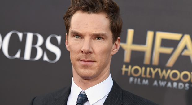 Benedict Cumberbatch at the Hollywood Film Awards. (AP)