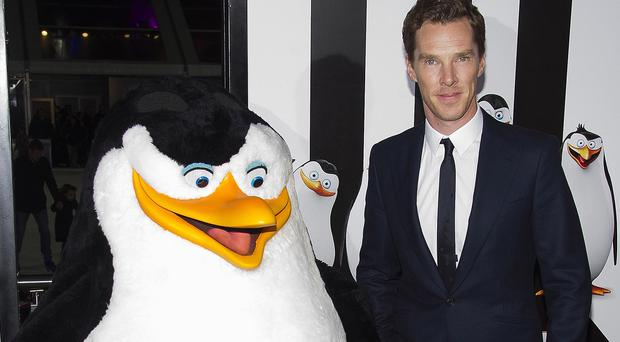 Benedict Cumberbatch at the Penguins Of Madagascar premiere in New York
