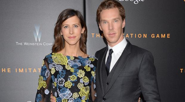 Actor Benedict Cumberbatch and fiancee Sophie Hunter stepped out on the red carpet in New York