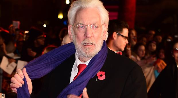 Donald Sutherland has revealed he campaigned to get the role of President Snow in The Hunger Games