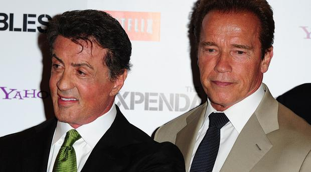Sylvester Stallone and Arnold Schwarzenegger star in The Expendables 3