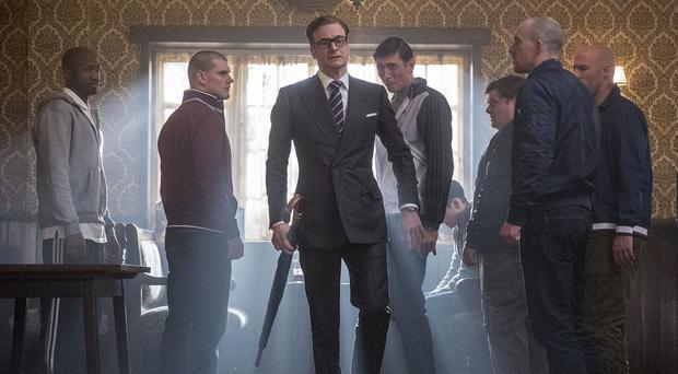 Colin Firth plays a secret agent in Kingsman: The Secret Service