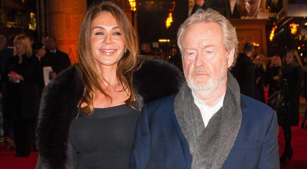 Sir Ridley Scott and his wife Giannina Facio at the world premiere of Exodus: Gods And Kings in London