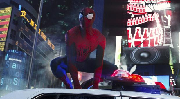 Andrew Garfield stars as Spider-Man in The Amazing Spider-Man
