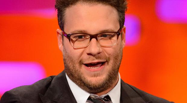 Seth Rogen was at the premiere of The Interview in Los Angeles