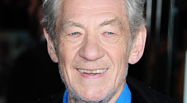 Sir Ian McKellen plays Gandalf