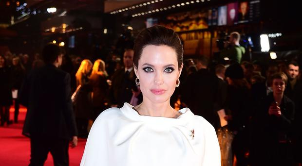 Angelina Jolie arriving for the UK premiere of the film, Unbroken
