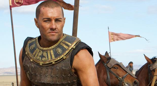 Joel Edgerton rocked a new look for Exodus: Gods And Kings (PA Photo/Fox UK)